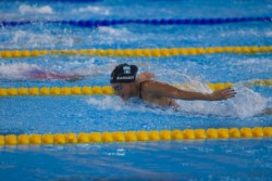 Bardach quedó lejos de sus mejores tiempos y completó los 400 m medley en 5:01.98.