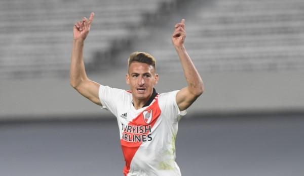 Braian Romero volvió a marcar y ya lleva 3 con la camiseta millonaria.