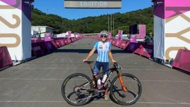 La ciclista de Esquel cumplió su sueño de competir en las Olimpiadas.