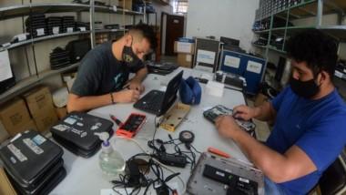 Las tareas de reparación y mantenimiento se realizan en Rawson.