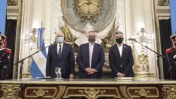 El Presidente tomó juramento a los nuevos ministros Taiana y Zabaleta.