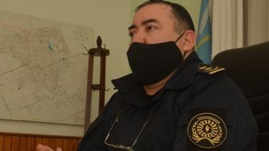 Comisario mayor Luis Villagrán. Ya se encuentra a cargo de Trelew.