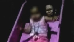 . La mamá de la pequeña compartió en su cuenta de Facebook una secuencia de imágenes en la que se puede ver lo que parece un fantasma persiguiendo a la pequeña.