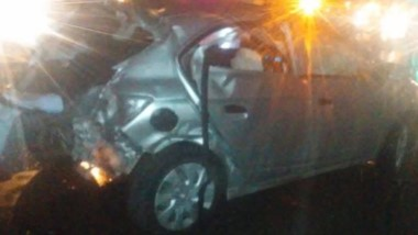 El Chevrolet Onix que manejaba Forner en la madrugada de ayer.