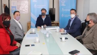 El intendente se reunión en Buenos Aires con autoridades del Ministerio de Desarrollo y Hábitat de Nación.