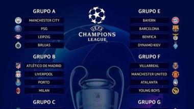 Así quedaron conformados los grupos de la Champions 2021-22.