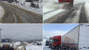 De blanco. Una abundante nevada ocurrió ayer en la zona cordillerana de la provincia de Chubut.