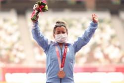 Antonella Ruiz Díaz se alzó con la de bronce en lanzamiento de bala.