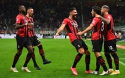 Milan goleó en San Siro y se subió a la cima de la Serie A.