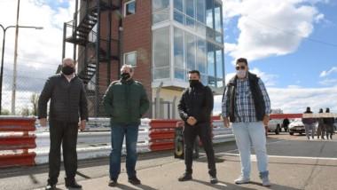 Carlos Carvalho, Rubén Anselmo y más dirigentes del Mar y Valle participaron de la inspección este lunes.