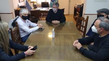 Sergio Ongarato, reunido con funcionarios nacionales en Esquel