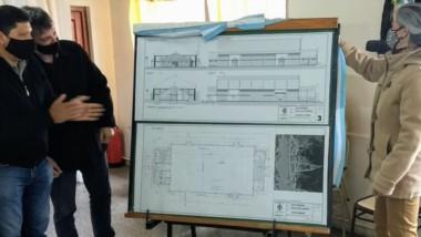 Los planos de cómo será el flamante Salón de Usos Múltiples para la comuna rural de Atilio Viglione.