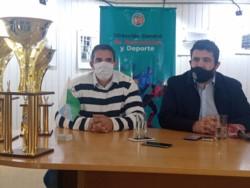 Martín Pala y Miguel Larrauri en la conferencia de prensa del Safari Pista Zonal.