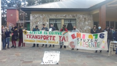 Protesta. Siguen las manifestaciones gremiales en las escuelas.