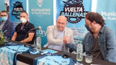 """Sastre participó del lanzamiento de la 9° edición de """"Vuelta Ballenas""""."""