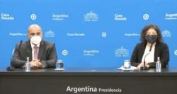 Carla Vizzotti y Juan Manzur encabezaron una conferencia de prensa en donde informaron la flexibilización de todas las restricciones que regían hasta hoy.