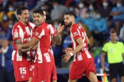 Atlético de Madrid perdía en su visita a Getafe, pero Luis Suárez marcó dos goles en 13 minutos.