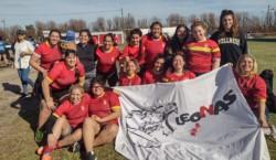 Las chicas de La Española y Draig Goch representan a la Unión del Valle.
