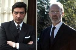 Flojos de papeles: Rosatti y Rosenkrantz (de barba y lentes), el entrante y el saliente llegaron a la Corte por un decreto de Macri.