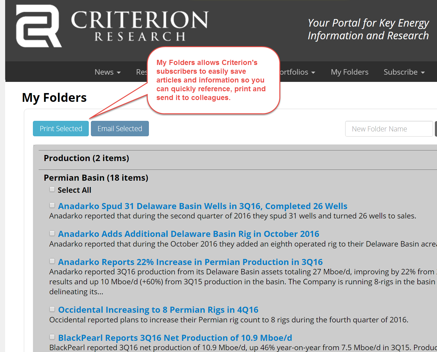 Criterion's Asset Summary.  Key information, easily accessible.