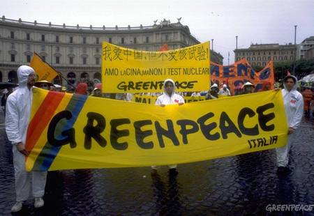 Greenpeace demo against chines1