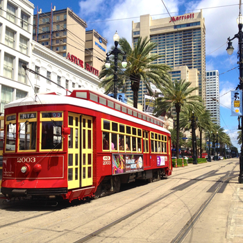 Canal streetcar in new orleans  louisiana  usa