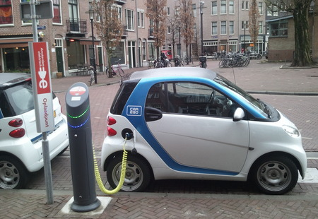 Electric car charging amsterdam