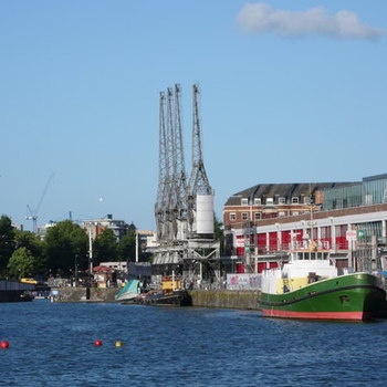 Quayside with cranes   near bristol industrial museum   geograph.org.uk   1607683