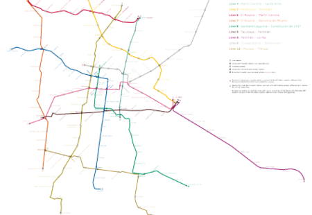 Mexico city metro system map %282013 03 01%29