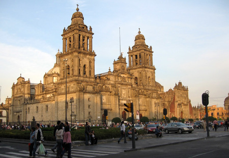 The cathedral as seen from madero street mexico city