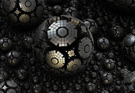 Complicated structures 3d steel sphere fractal 1118515