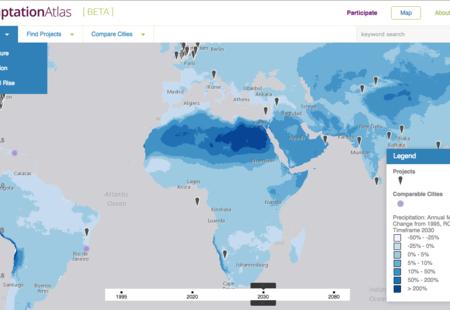 Adaptation atlas beta percipitation