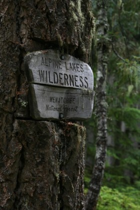 Entering the official wilderness
