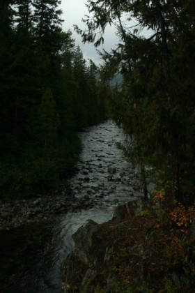 Looking downstream on Icicle Creek