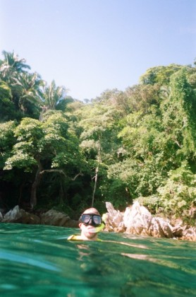 Snorkeling in the cove