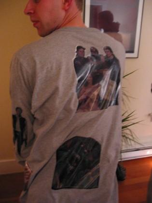 The back of my stylish pajamas