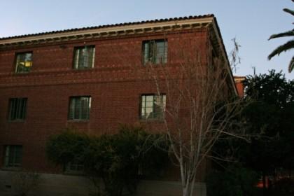 Danelle's old dorm room, top floor, corner