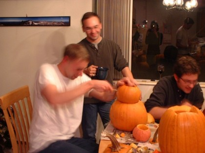 Me carving like a madman
