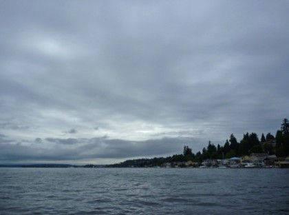 Photo Detail: Overcast skies, but few boats