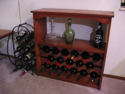 Wine rack, in its finished splendor