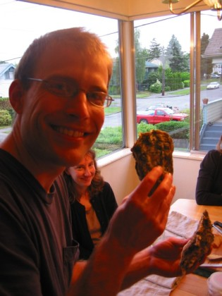 Dan and a massive oyster