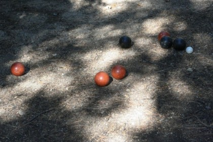 Extreme mountain bocce!
