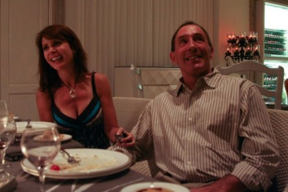 Lisa and Tony, at our table
