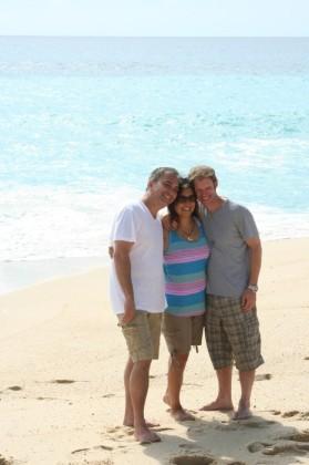 Phil, Chantelle, and Jon