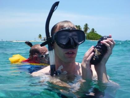 Up close with a sea cucumber/slug