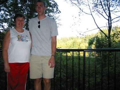 Mom and me at Tiger Mountain
