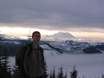 Me in front of Mt Rainier