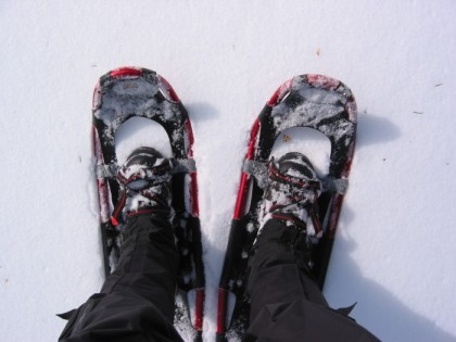 My big snowshoes