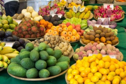 Tropical fruit section