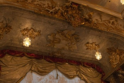 Ceiling over the stage